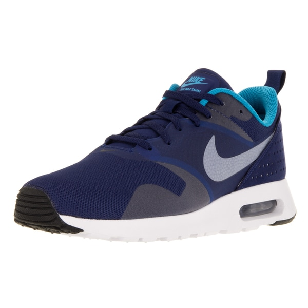 Nike Men's Air Max Tavas Loyal Blue/White/Blue Lagoon/Black Running Shoe (Size 10)