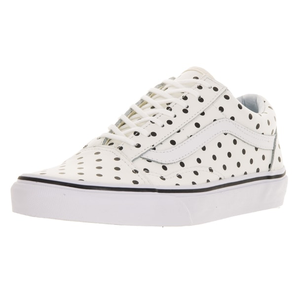 Vans Unisex Old Skool (Leather Polka Dots) White Skate Shoe