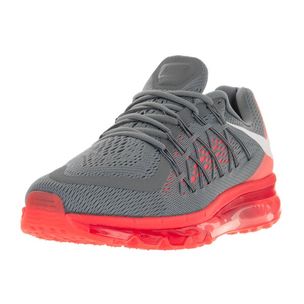Nike Men's Air Max 2015 Cool Grey/White/Bright Crimson Running Shoe