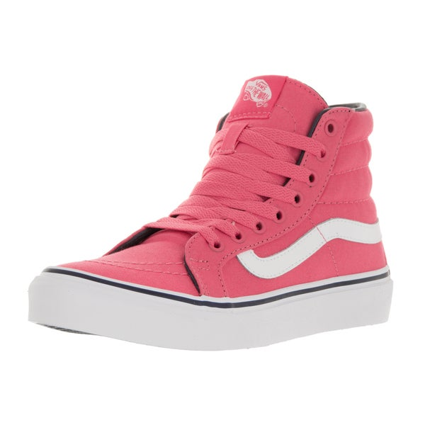 Vans Unisex Sk8-Hi Slim Camellia Rose Canvas Skate Shoes