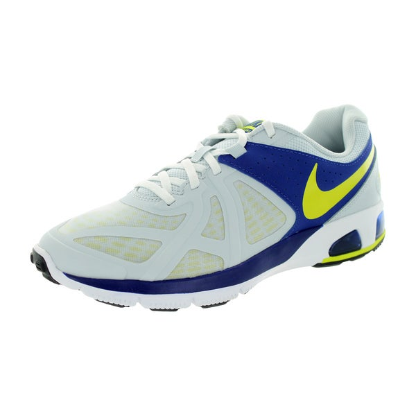 Nike Men's Air Max Run Lite 5 White Yellow Blue Synthetic Running Shoe