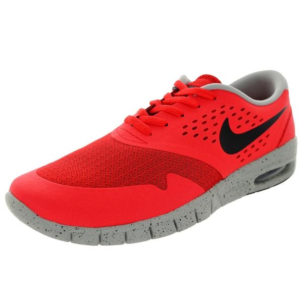 Nike Men's Eric Koston 2 Max Light Crimson, Black, and Base Grey Fabric Skate Shoes