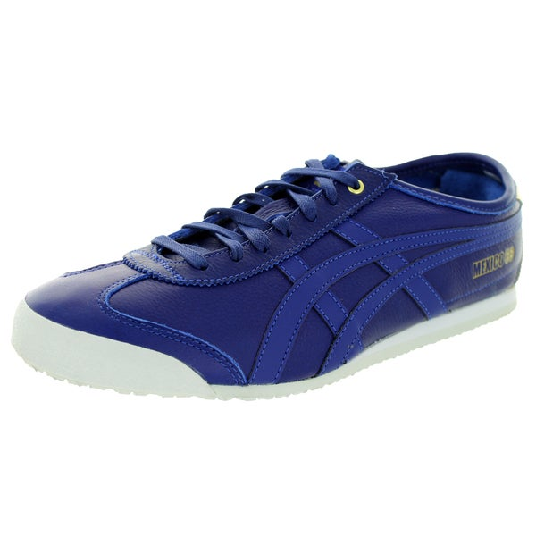 Onitsuka Tiger Unisex Mexico 66 Blue Leather Casual Shoe