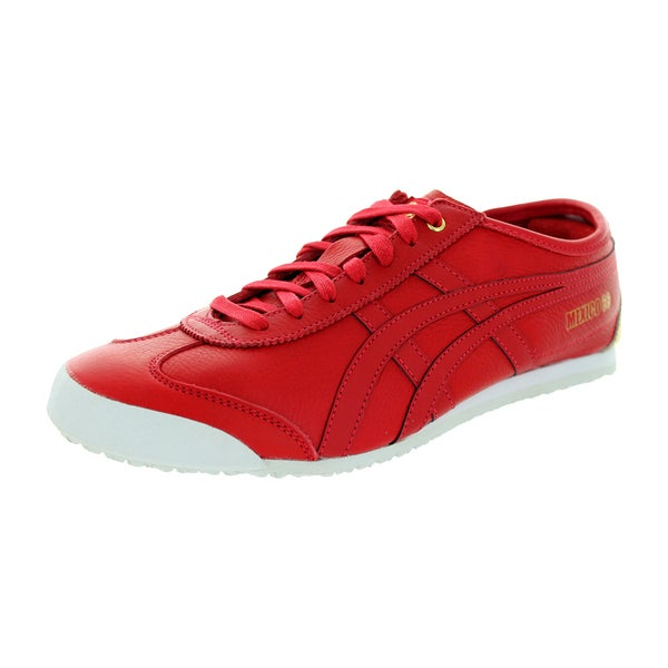 Asics Unisex Onitsuka Tiger 'Mexico 66' Red Leather Casual Shoes