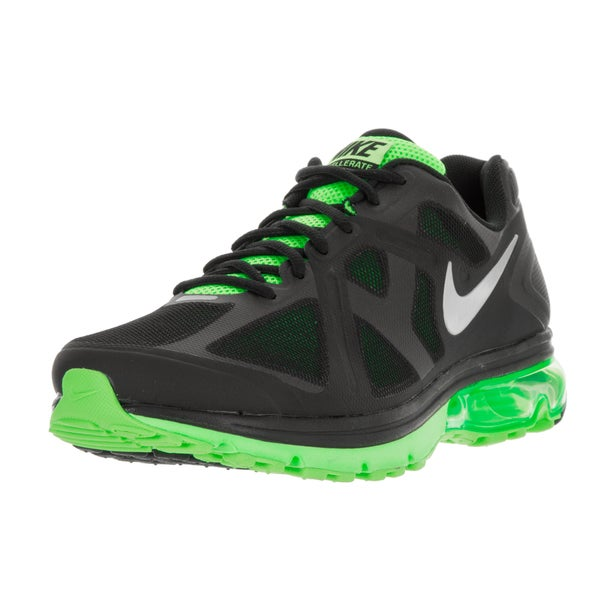 Nike Men's Air Max Excellerate+ Black/Mtllc Silver/Elctrc Grn Running Shoe (Size 13)