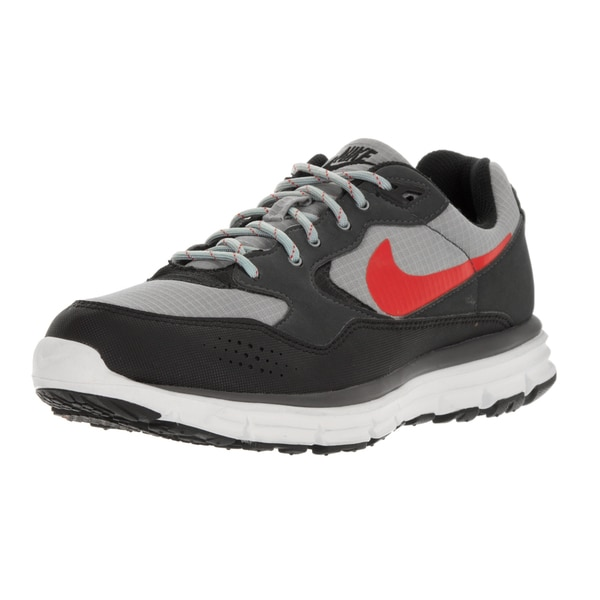 Nike Men's Lunar Wood+ Matte Silver/Challenge Red/Black Running Shoe (Size 7.5)