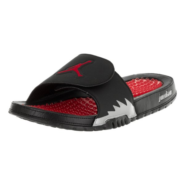 Nike Jordan Men's Jordan Hydro V Retro Black/Fire Red/Metallic Silver Sandal