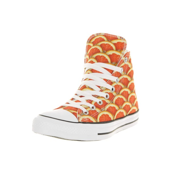 Converse Unisex Chuck Taylor All Star Hi Orange/White Basketball Shoe