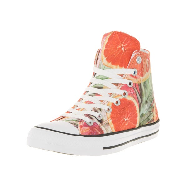 Converse Unisex Chuck Taylor All Star Hi Orange/Green/Wh Basketball Shoe