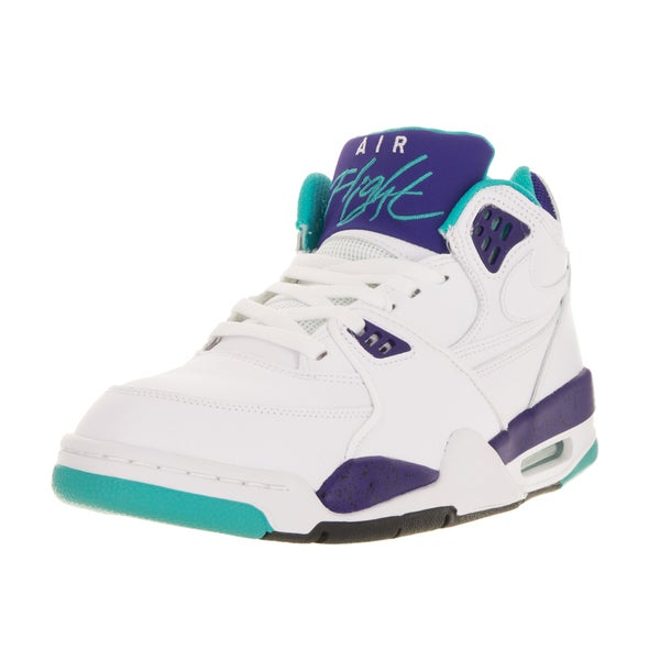 Nike Men's Air Flight 89 White/White/Drk Cncrd/Hypr Jd Basketball Shoe