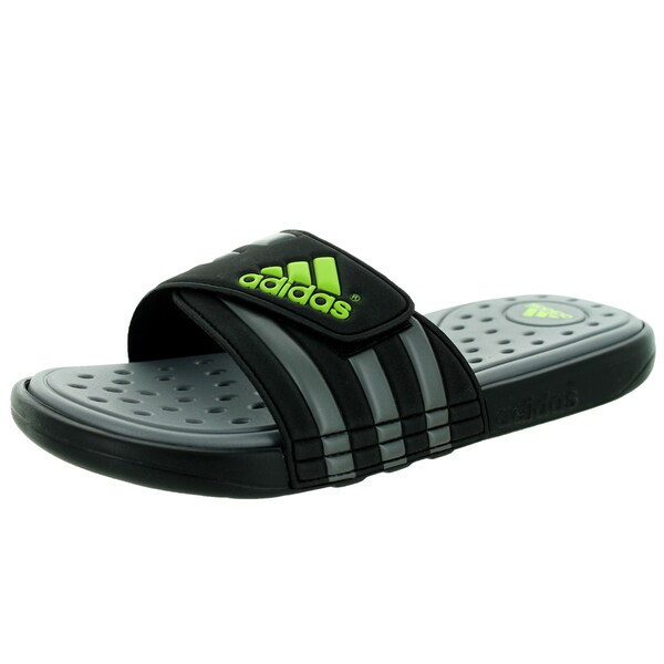 Adidas Men's Adissage SC Black1/Solsli/Neirme Sandal