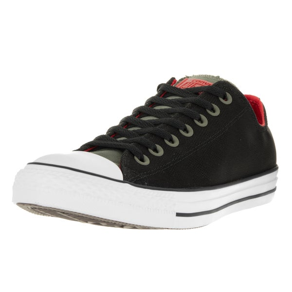 Converse Unisex Chuck Taylor All Star Ox Fatigue Green/Black/Signal Red Basketball Shoe