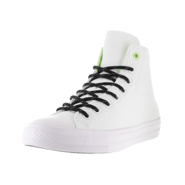 Converse Unisex Chuck Taylor All Star II Hi White/Black/Volt Casual Shoe