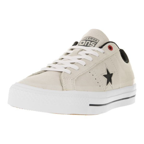 Converse Unisex One Star Pro Suede Ox Buff/Black/White Skate Shoe