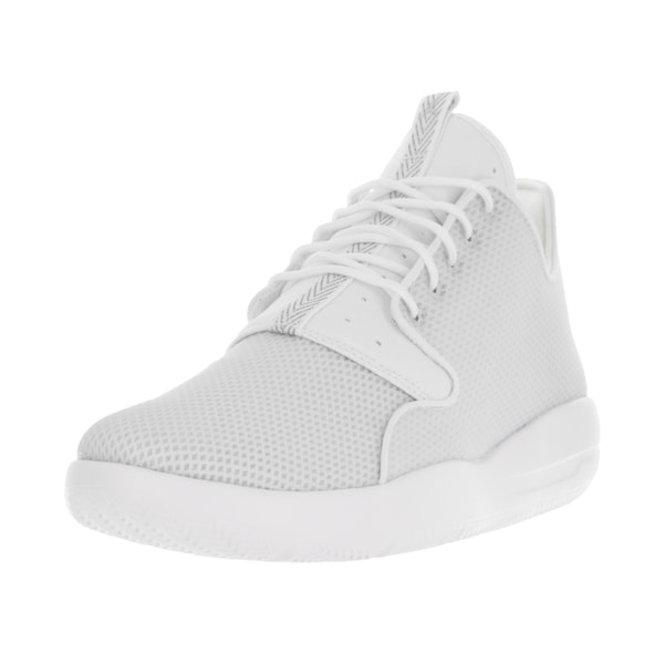 Nike Jordan Men's Jordan Eclipse White, Metallic Silver, and Pure Platinum Textile Running Shoes