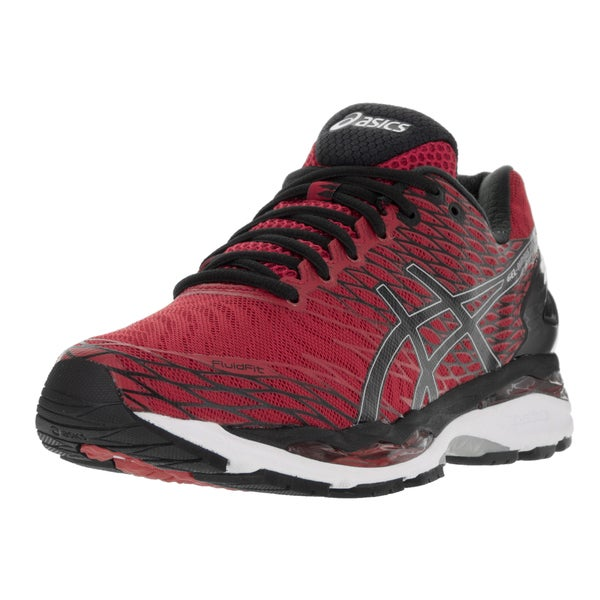 Asics Men's Gel-Nimbus 18 Racing Red/Black/Silver Running Shoe