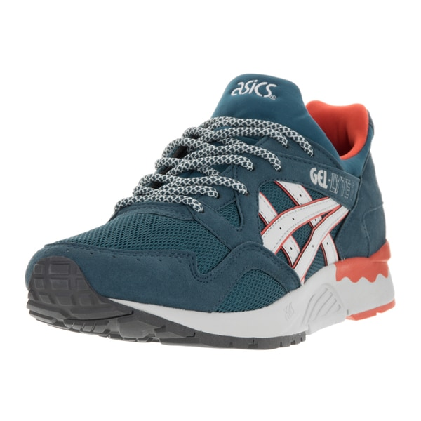 Asics Men's Gel-Lyte V Legion Blue, Soft Grey Suede Running Shoe