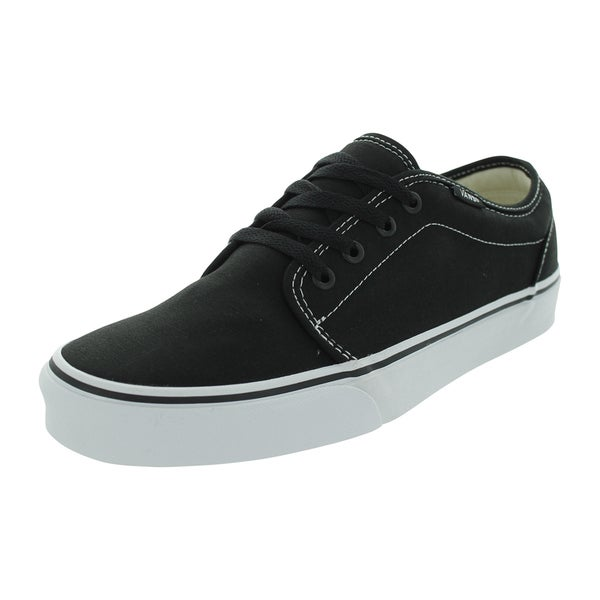 Van's 106 Vulcanized Black Canvas Skate Shoe