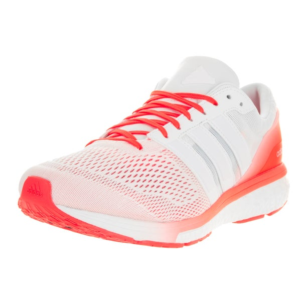 Adidas Men's Adizero Boston 6 M White Ftw/Running White Ftw/Solar Red Running Shoe 22201327