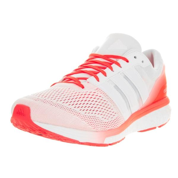 Adidas Men's Adizero Boston 6 M White Ftw/Running White Ftw/Solar Red Running Shoe 22201320