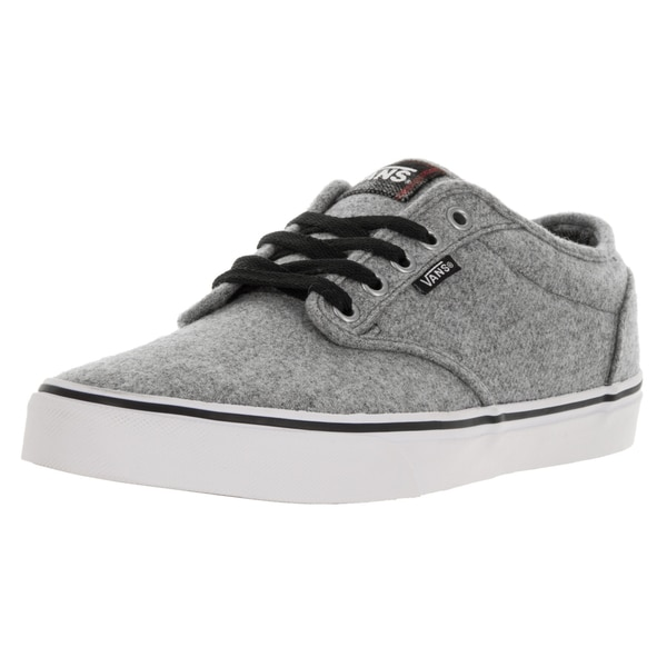 Vans Men's Atwood (Plaid) Gray/Red Skate Shoe