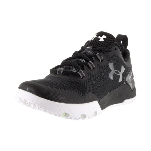 Under Armour Men's 'Charged Ultimate Low' Black, White, and Graphite Fabric Training Shoes