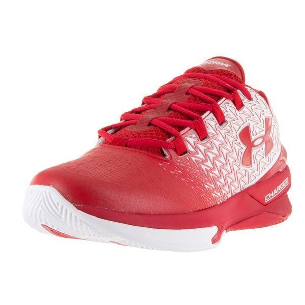 Under Armour Men's Clutchfit Drive 3 Low White/Red/Red Basketball Shoe