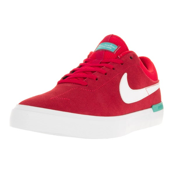 Nike Men's SB Koston Hypervulc University Red/White/Clr Jade Suede Skate Shoe