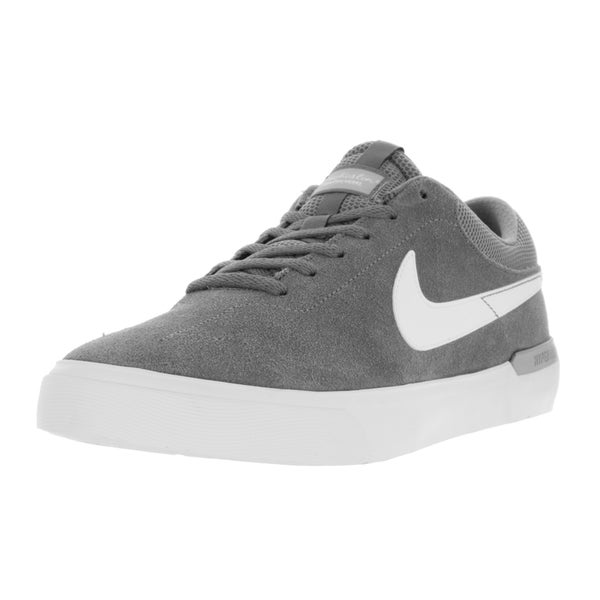 Nike Men's SB Koston Hypervulc Cool Grey, White, and Wolf Grey Suede Skate Shoes