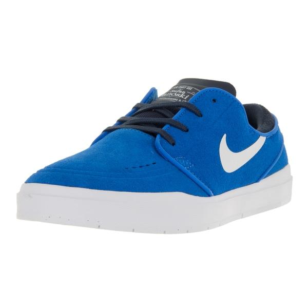 Nike Men's Stefan Janoski Hyperfeel Photo Blue/White Suede Obsidian Skate Shoe