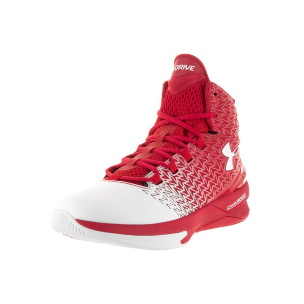Under Armour Men's Clutchfit Drive 3 Red, White, White Fabric Basketball Shoes