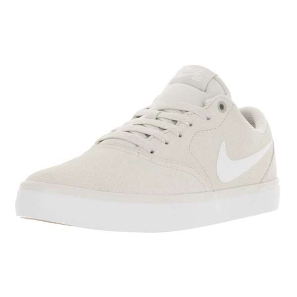 Nike Men's SB Check Solar Light Bone and White Skate Shoe