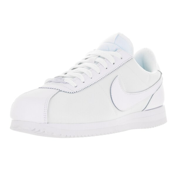 Nike Men's Cortez Basic QS 1972 White Leather Casual Shoes