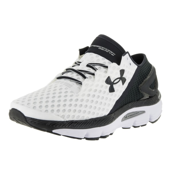 Under Armour Men's Speedform Gemini 2 White and Black Fabric Running Shoes