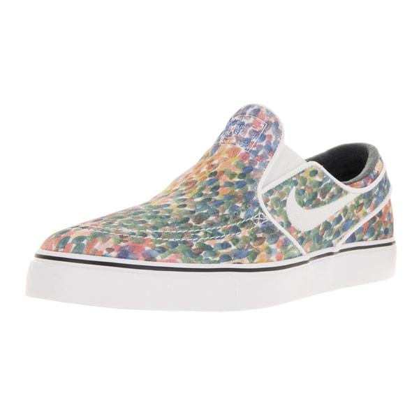 Nike Men's Zoom Stefan Janoski Slip Premium White/Black/White Skate Shoe