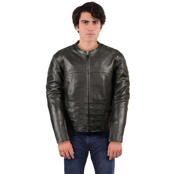 Men's Assault-style Racer Jacket with Triple Side Straps