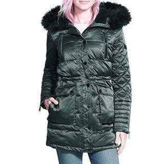 BCBGeneration Women's Quilted Satin Parka Coat