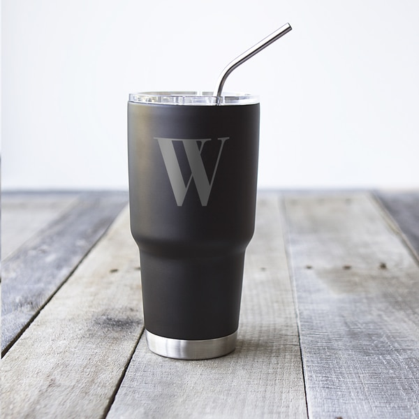 Personalized 30 oz. Black Stainless Steel Double-Walled Tumbler 22210354