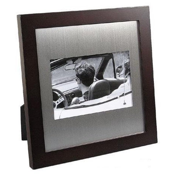 "Elegance 6 x 4"" Photo Frame-Wood/Aluminium"