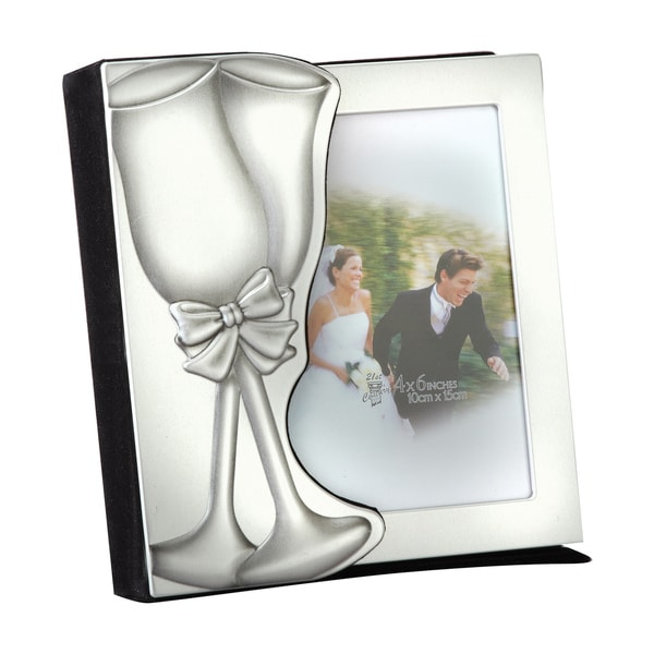 Elegance Wedding Photo Album, Silver Aluminium Holds 48, 4x6