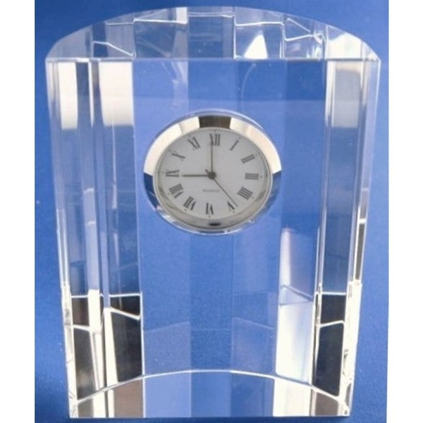 Elegance Optical Crystal Dome Clock