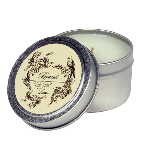 Brunei Silver Luxury Tin/Wax Travel Candle