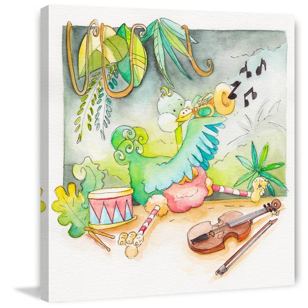 Marmont Hill - 'Play It Loud' by Brilliant Critter Painting Print on Wrapped Canvas