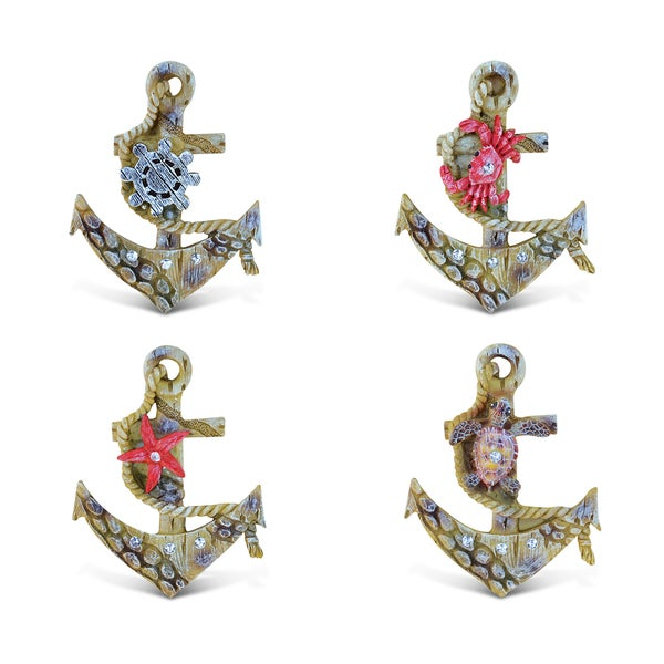 Puzzled Inc. Anchor Rockstone Multicolored Polyresin Magnet (Pack of 4)