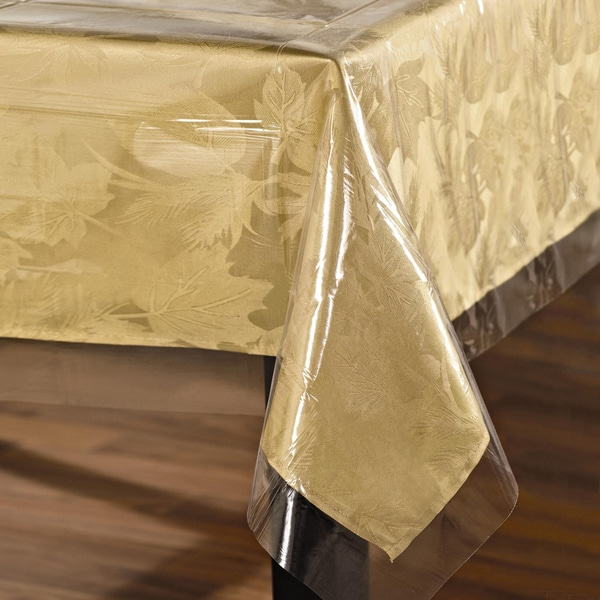 Easy Care Super Clear Vinyl Tablecloth Protector- Square, Round, Oblong and Oval In Assorted Sizes
