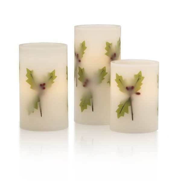 Pfaltzgraff Winterberry LED Candles (Pack of 3)