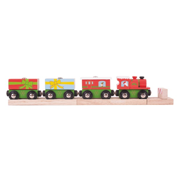 BigJigs Toys Wooden Christmas Train