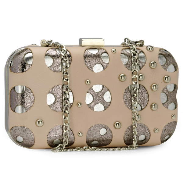 Jasbir Gill Women's Pale Pink Leather Clutch (India)