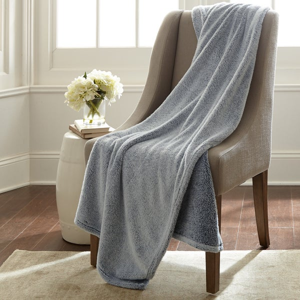 Velvet touch two tone throw