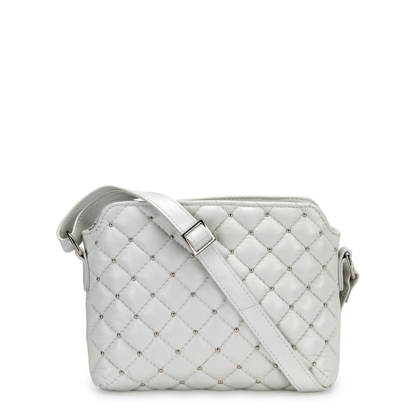 Phive Rivers Women's Leather Crossbody Bag (White, PR1213)
